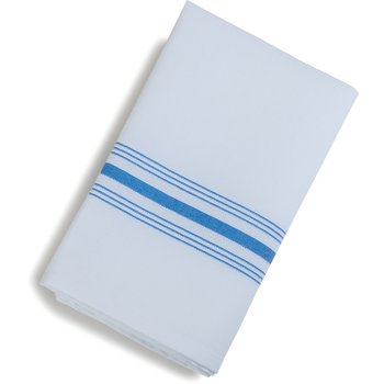 "53771822NH062 - SoftWeave™ Bistro Striped Napkin 18"" x 22"" - Blue"
