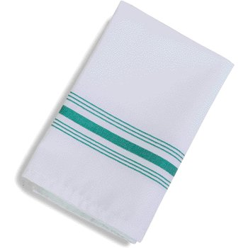 "53771822NH064 - SoftWeave™ Bistro Striped Napkin 18"" x 22"" - Kelly Green"