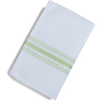 "53771822NH076 - SoftWeave™ Bistro Striped Napkin 18"" x 22"" - Lime Green"