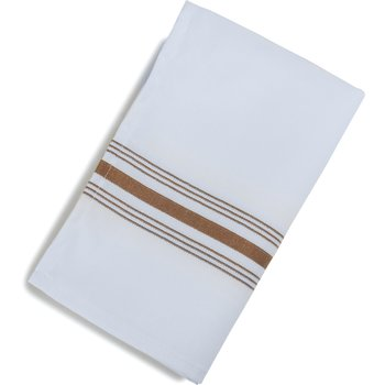 "53771822NH515 - SoftWeave™ Bistro Striped Napkin 18"" x 22"" - Chocolate"