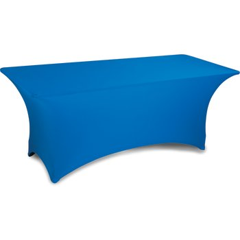 "EMB5026RT630062 - Embrace™ Rectangle Stretch Table Cover 72"" x 30"" x 30"" - Cadet Blue"