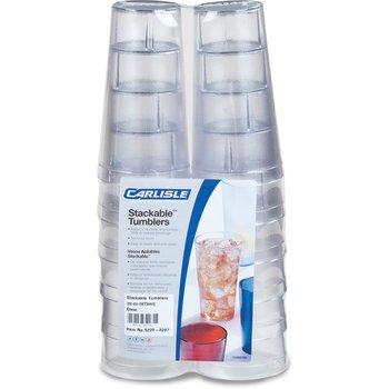5220-8207 - Stackable™ SAN Tumbler 20 oz (12/pk) - Clear