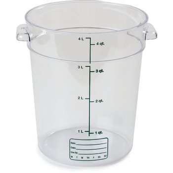 1076407 - StorPlus™ Round Container 4 qt - Clear