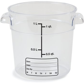 1076107 - StorPlus™ Round Container 1 qt - Clear