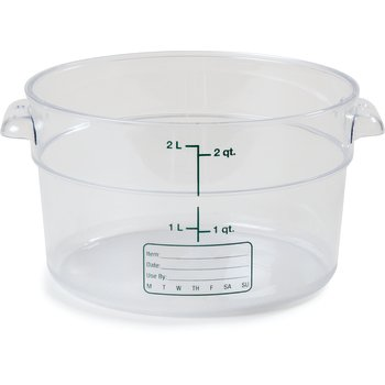 1076307 - StorPlus™ Round Container 2 qt - Clear