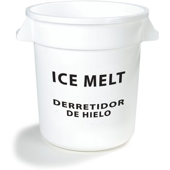 341020IMB02 - Bronco™ Round ICE MELT Container 20 Gallon - Ice Melt - White