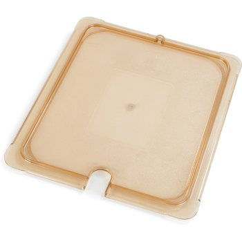 10437U13 - StorPlus™ Univ Lid - Food Pan HH Flat 1/2 Size - Amber