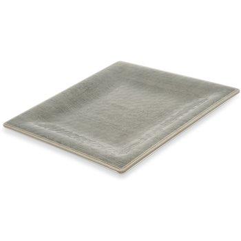"""6402218 - Grove Melamine Square Plate 10.5"""" - Smoke"""