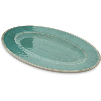 "6402015 - Grove Melamine Oval Plate 12"" x 8"" - Aqua"