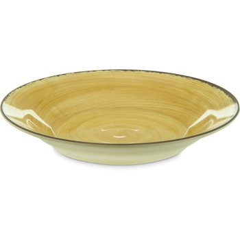 5400313 - Mingle Melamine Rimmed Soup Bowl 28.5 oz - Amber