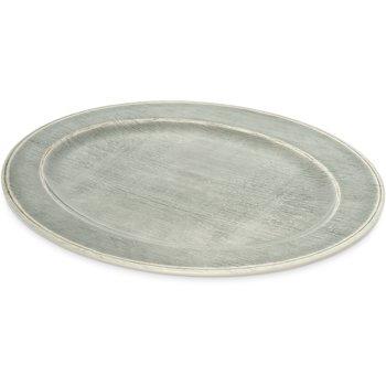 "6402118 - Grove Melamine Oval Platter Tray 20"" x 14"" - Smoke"