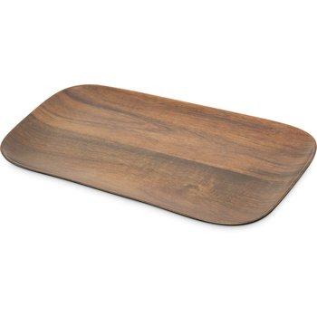 "EAG0769 - Epicure® Acacia Grain Rectangle Tray 14.75"" x 6.75"" - Dark Woodgrain"