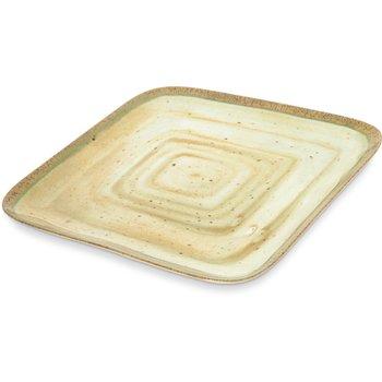 """GA5500970 - Gathering Melamine Square Plate 12.5"""" - Adobe"""