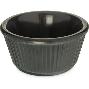 S28703 - Melamine Fluted Bowl Ramekin 4 oz - Black