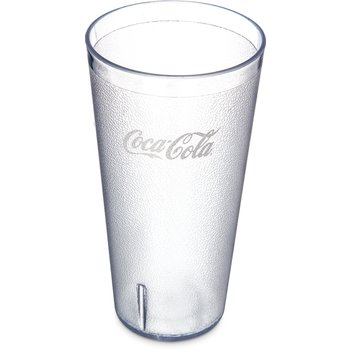 5232-63550J - Coca-Cola® Stackable™ SAN Tumbler 32 oz (72ea) - Coca-Cola® logo - Clear