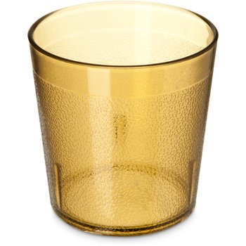 5529-8113 - Stackable™ Old Fashion SAN Plastic Tumbler 9 oz - Cash & Carry (6/pk) - Amber