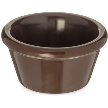 085269 - Melamine Smooth Ramekin 2 oz - Chocolate