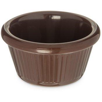 S27969 - Melamine Fluted Ramekin 2 oz - Chocolate