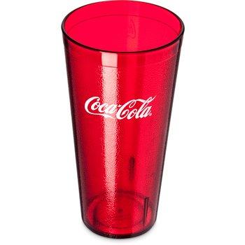 52243550H - Coca-Cola® Stackable™ SAN Plastic Tumbler 24 oz - Ruby