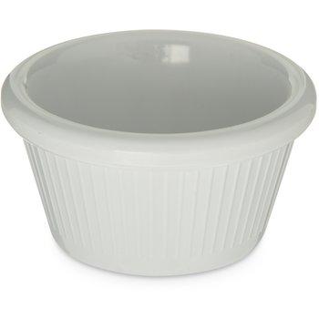 S27902 - Melamine Fluted Ramekin 2 oz - White