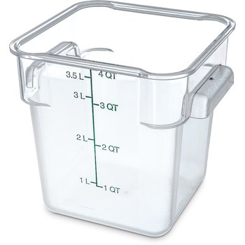 1072107 - StorPlus™ Square Container 4 qt - Clear