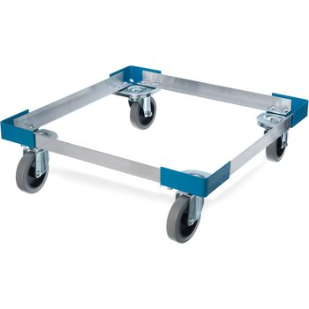 "C2220A14 - E-Z Glide™ Open Aluminum Dolly Without Handle 20.63"" x 20.63"" x 6.5"" - Carlisle Blue"