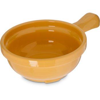 "700622 - Handled Soup Bowl 8 oz, 4-5/8"" - Honey Yellow"