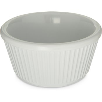 S28702 - Melamine Fluted Bowl Ramekin 4 oz - White