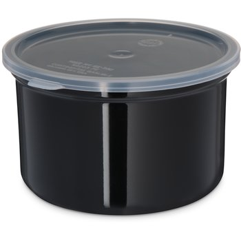 034303 - Poly-Tuf™ Crock w/Lid 1.5 qt - Black