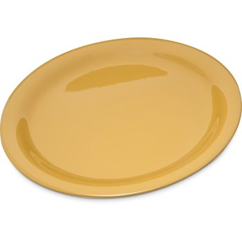 "4300422 - Durus® Melamine Narrow Rim Dinner Plate 9"" - Honey Yellow"