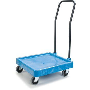"C2236H14 - E-Z Glide™ Warewashing Rack Dolly with Handle 22.5"" x 22.5"" x 39.5"" - Blue"