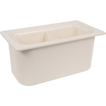 "CM110302 - Coldmaster® 6"" D Third-size Divided Food Pan  - White"