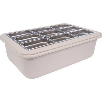 "CM104902 - Coldmaster® 6"" Deep Full-size Coldpan w/Organizer - White"