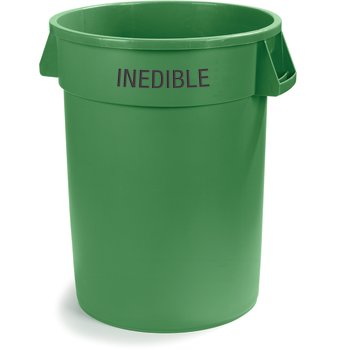 341032INEA09 - Bronco™ Round INEDIBLE Waste Container 32 Gallon - Green