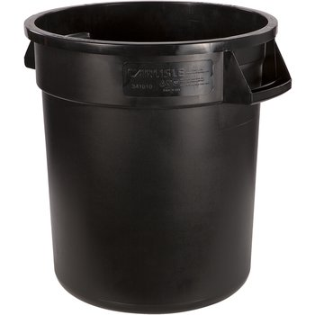 34101003 - Bronco™ Round Waste Bin Food Container 10 Gallon - Black