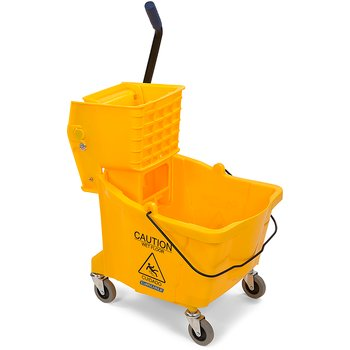 3690404 - Flo-Pac® Mop Bucket with Side Press Wringer 35 Quart - Yellow