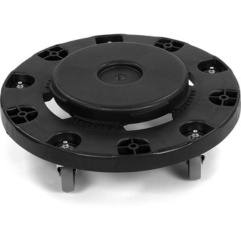 3691003 - Bronco™ Round Waste Container Trash Can Dolly with Replaceable Casters 20, 32, 44 and 55 Gallon - Black