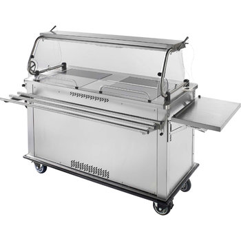 """DXPSUCC - Perfect . Serv II® Perfect•Serv® Ultra - 1 Chillotherm compartment and 1 Refrigerator 60.2"""" x 28.75"""" x 54.5"""" - Stainless Steel"""