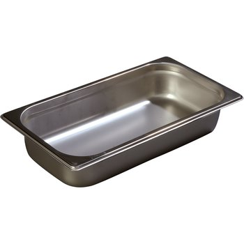 "607132 - DuraPan™ Third-Size Light Gauge Stainless Steel Steam Table Hotel Pan 2.5"" Deep"
