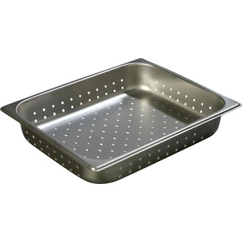 "607122P - DuraPan™ Half-Size Light Gauge Stainless Steel Perforated Steam Table Hotel Pan 2.5"" Deep"