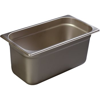 "608136 - DuraPan™ Third-Size Heavy Gauge Stainless Steel Steam Table Hotel Pan 6"" Deep - Stainless Steel"