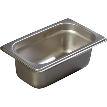 "607192 - DuraPan™ Ninth-Size Light Gauge Stainless Steel Steam Table Hotel Pan 2.5"" Deep"