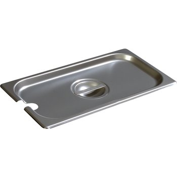 607130CS - DuraPan™ Third-Size Stainless Steel Hotel Pan Slotted Handled Cover