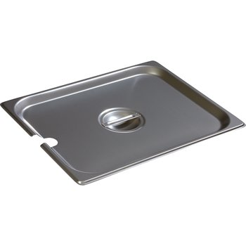 607120CS - DuraPan™ Half-Size Stainless Steel Steam Table / Hotel Pan Slotted Handled Cover