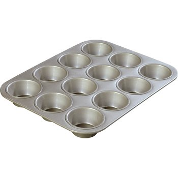 601830 - Steeluminum® 12 Cup Heavy-Duty Cupcake Pan 3.5 oz