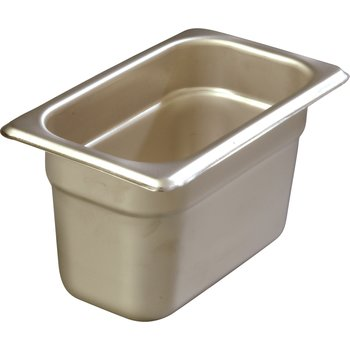 """608194 - DuraPan™ Ninth-Size Heavy Gauge Stainless Steel Steam Table Hotel Pan 4"""" Deep - Stainless Steel"""