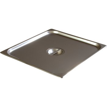 607230C - DuraPan™ Two-Third-Size Stainless Steel Steam Table / Hotel Pan Solid Handled Cover