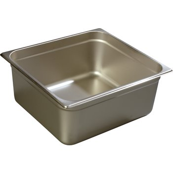 "608236 - DuraPan™ Two-Third-Size Heavy Gauge Stainless Steel Steam Table Hotel Pan 6"" Deep - Stainless Steel"
