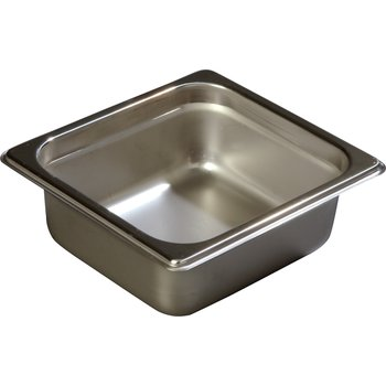 "608162 - DuraPan™ Sixth-Size Heavy Gauge Anti-Jam Stainless Steel Steam Table / Hotel Pan 2.5"" Deep - Stainless Steel"