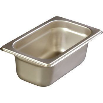 "608192 - DuraPan™ Heavy Gauge One-Ninth Size Pan 2.5"" DP 1/9 Size - Stainless Steel"